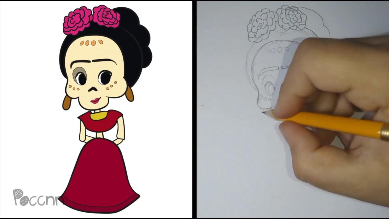 Dibujo Para Colorear De Frida Kahlo: Moderno Colorear Frida Kahlo Elaboración