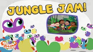 jungle jam jungle song   plum landing on pbs kids