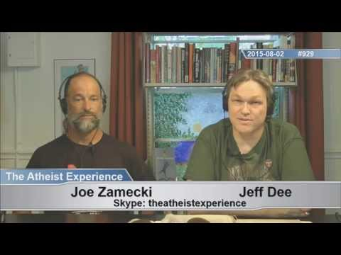 Atheist Experience #929 with Jeff Dee and Joe Zamecki (the first time from the Freethought Library!)