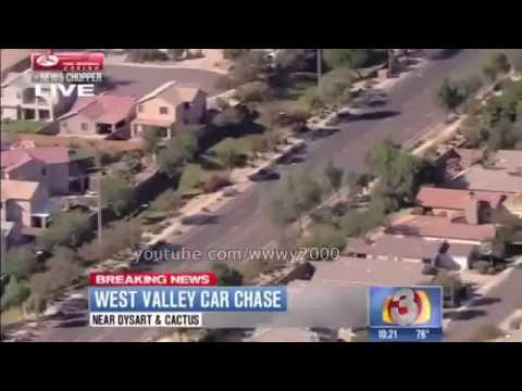 Police pursuit 2017 - Phoenix High Speed Chase 13 November 2013