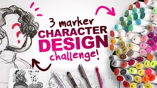 Download BUILDING a CHARACTER from ONLY 3 COLORS?! | 3 Ohuhu Marker Character Design Challenge Mp3 and Videos