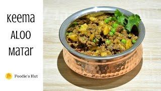 Ground Meat Potato Pea Curry -(keema Aloo Matar)- Recipe By Foodie's Hut # 0059