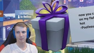 free gifting glitch for fishstick on fortnite...