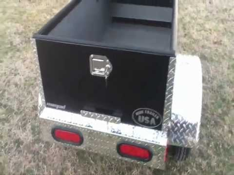 5ft Cargo Box Aluminum Lighweight Motorcycle Trailer