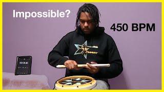Double Stroke Roll Challenge   400 BPM???
