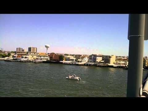 Longport, NJ JFK Bridge Panorama with Great Egg Harbor Inlet