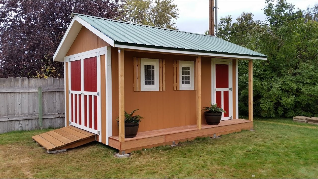 how to build a storage shed youtube