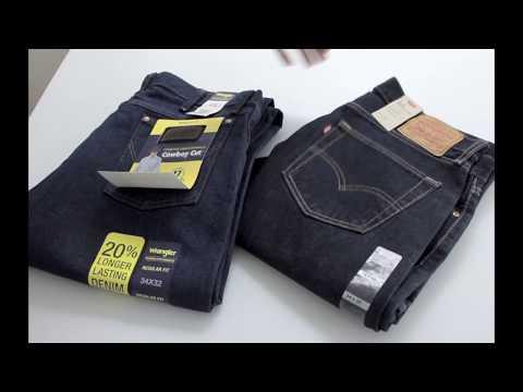 Джинсы Levi's 505 и Wrangler 47 сравнение, замеры | Jeans Levi's Wrangler Regular Fit