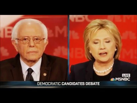 Democratic Candidates Debate by MSNBC by Bernie Sanders & Hillary CLinton