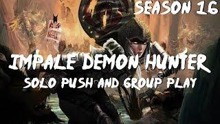 Скачать Impale Demon Hunter Build Solo Push Group Push Speeds Diablo 3