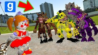 Freakshow Baby vs Twisted Ones Pill Pack FNAF 6 (Gmod FNAF Funny Moments Sandbox) (Garry's Mod)