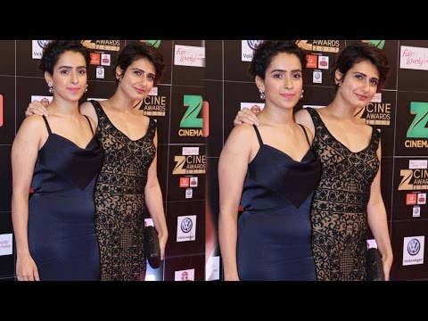 Sanya Malhotra and Fatima Sana Shaikh at the Zee Cine Awards 2017 | SpotboyE Mp3