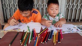 Trò Chơi Chia Đều Bút Chì Màu—Người Mẹ Công Bằng ❤ PinPin TV ❤  Đồ Chơi Bé Pin