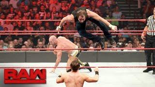 "An impromptu Six-Man Tag Team Match erupts on the set of ""Miz TV."" ..."