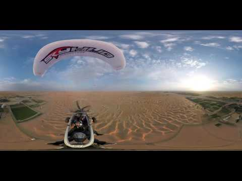 Skyhub Dubai, Paramotor, 360 video