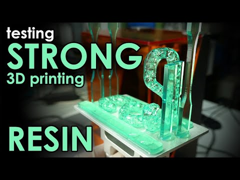 STRONG parts from a Resin 3D Printer? Testing TOUGH Engineering Resin!