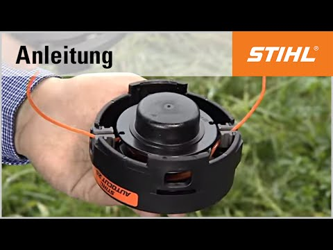 das bef llen des m hkopfs stihl autocut 25 2 youtube. Black Bedroom Furniture Sets. Home Design Ideas