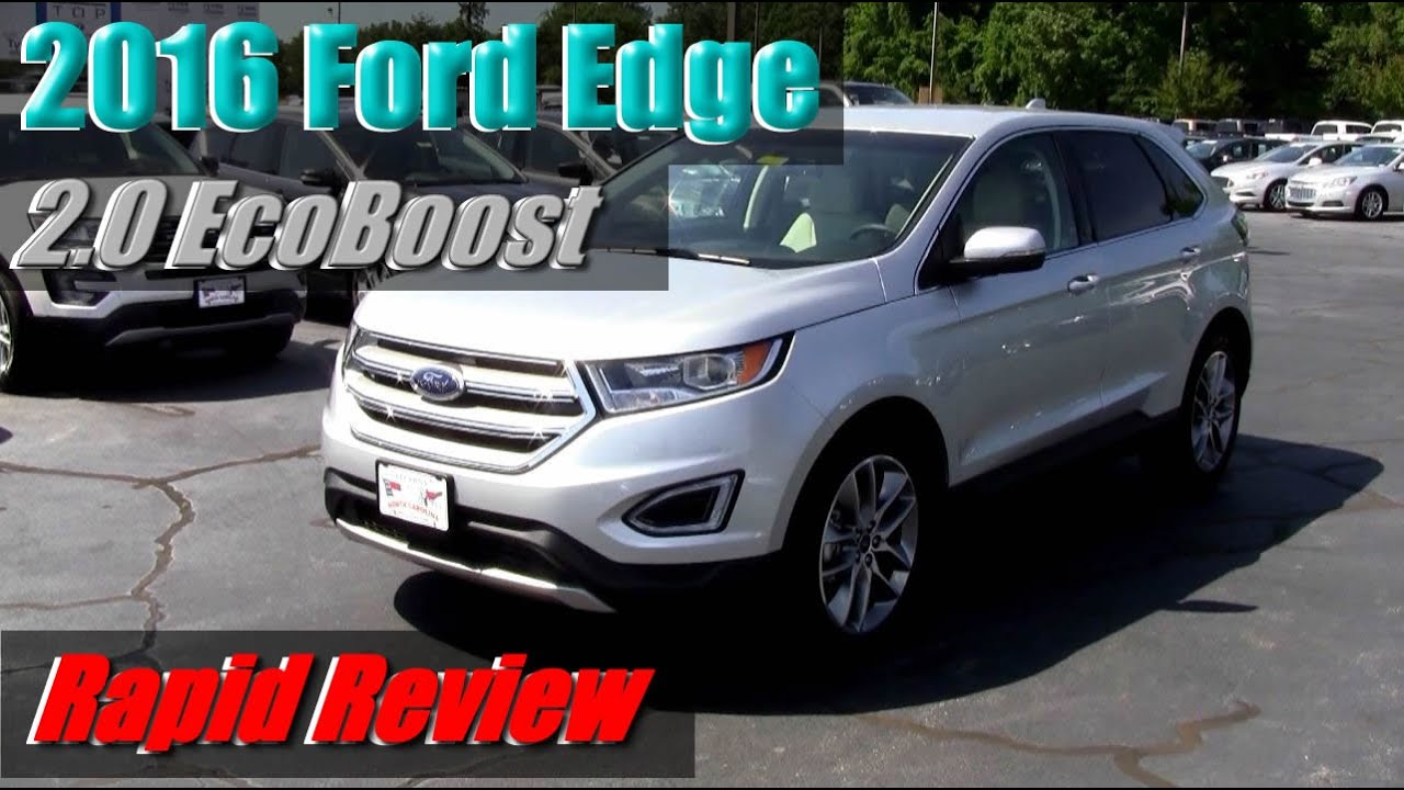 2016 Ford Edge 2l Ecoboost
