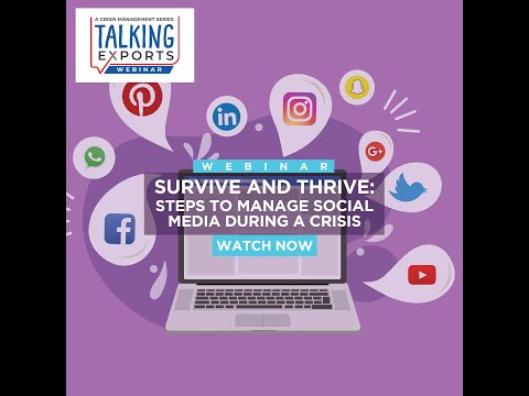 Survive and Thrive Steps to Manage Social Media During a Crisis!