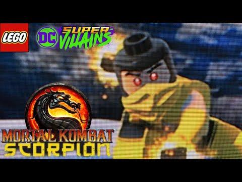 LEGO DC Super Villians - How To Make Scorpion from Mortal Kombat |