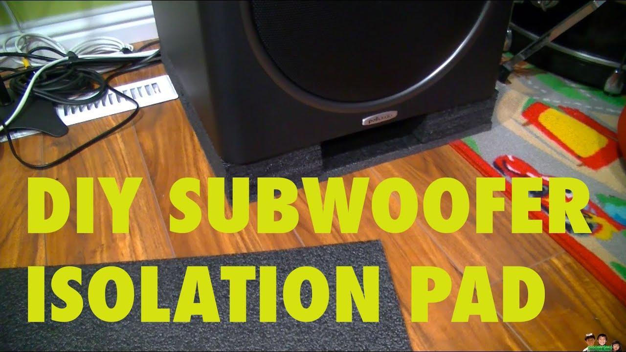 DIY Subwoofer Isolation Pad