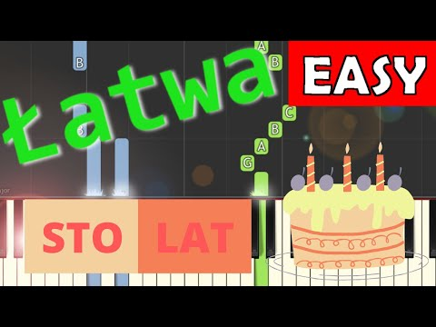 🎹 Sto lat - Piano Tutorial (łatwa wersja) 🎹