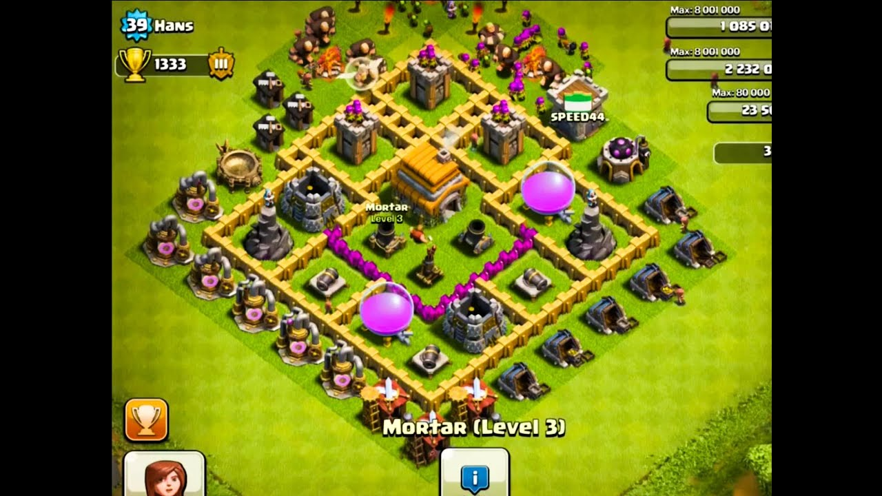 The 2 best defense bases for town hall level 6 clash of clans