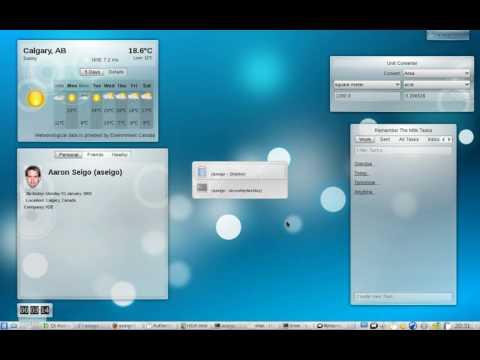 KDE 4.3 Plasma Overview Screencast by Seigo