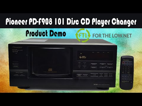 PIONEER 101 DISC CD PLAYER CHANGER MEGA DISC CHANGER SYSTEM PD-F908 PRODUCT DEMONSTRATION