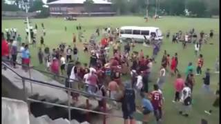 Rugby fight after the game