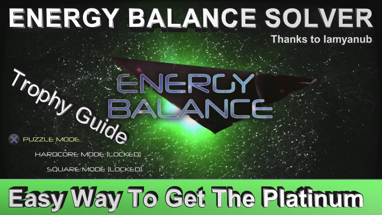 Energy Balance Trophy & Achievement Guide | Energy Balance Solver ...
