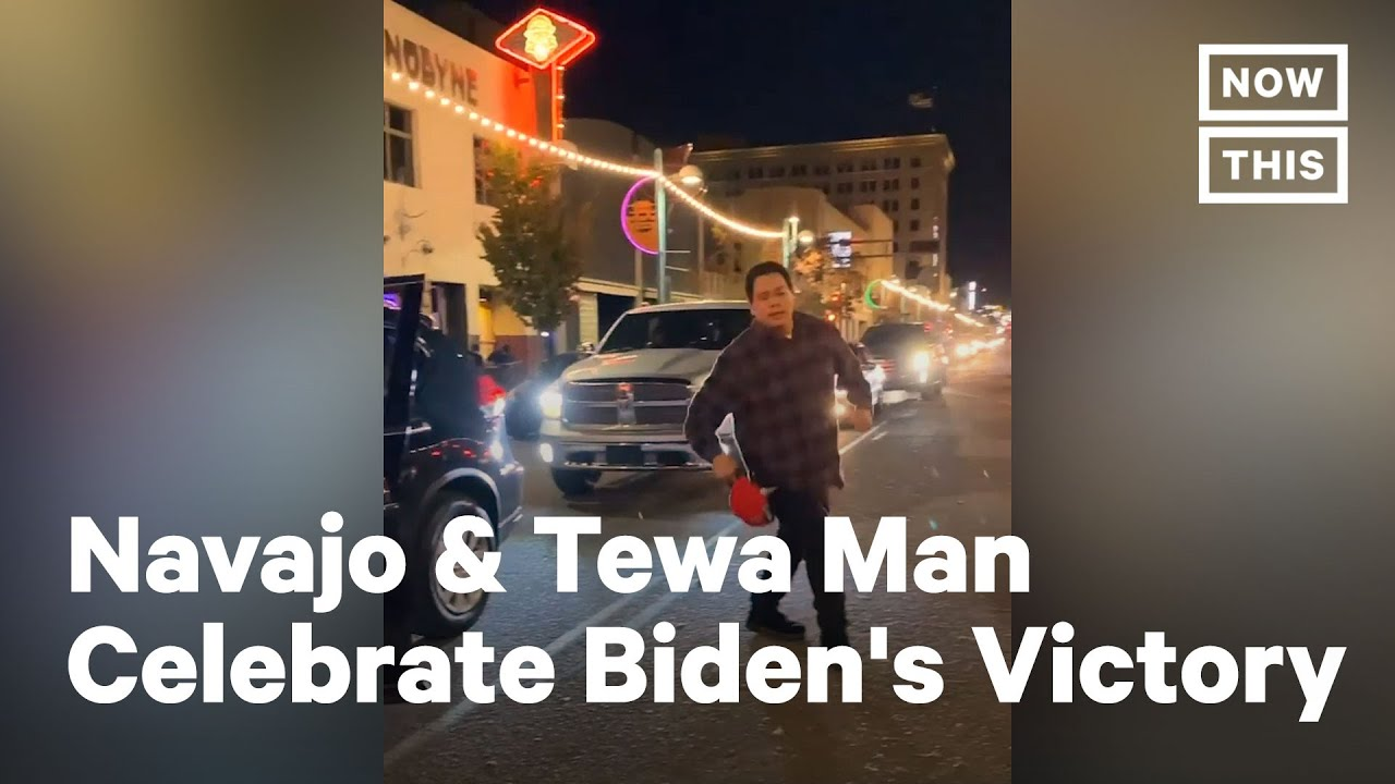 Native American Voters Celebrate Biden's Victory With Traditional Dance | NowThis