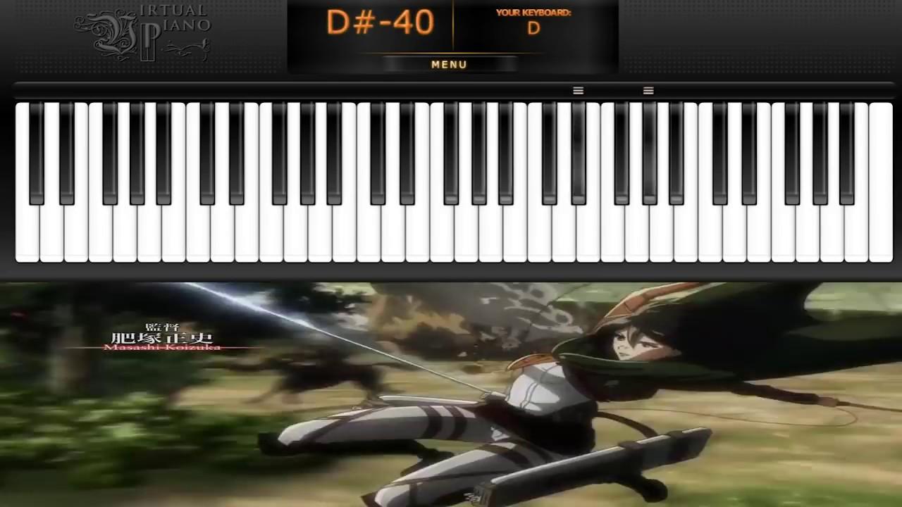 Shingeki no Kyojin Shinzou wo SasageyoVIRTUAL PIANO Shingeki