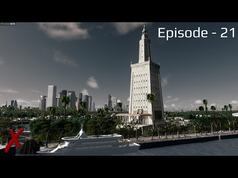 """Cities Skylines - Noughbarn - (Episode 21) """"Yachts and the UK Embassy on Palm island"""""""