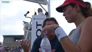 Garbine Muguruza and Coach Sam Sumyk | On-Court Coaching | Western and Southern Open Quarterfinals