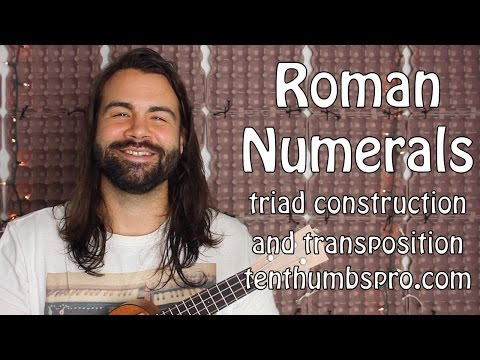 Roman Numerals and Chord Construction Explained - Beginner Music Theory Ukulele Tutorial