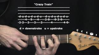 """Crazy Train"" by Ozzy Osbourne : 365 Riffs For Beginning Guitar !!"