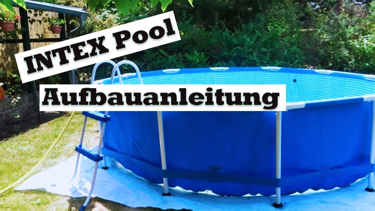intex pool aufbauanleitung intexpool youtube. Black Bedroom Furniture Sets. Home Design Ideas