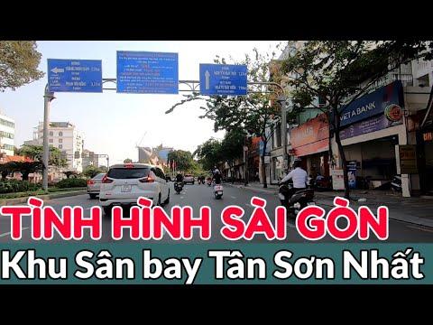 Đường Xá Sài Gòn Quanh Sân Bay Tân Sơn Nhất | Học Sinh Chưa đi Học Lại, Chờ Thông Báo | Đường Vắng