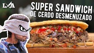 super sandwich de cerdo desmenuzado receta de locos x el asado