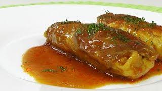 Голубцы с курицей в томатном соусе видео рецепт