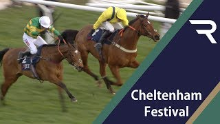 Vidéo de la course PMU JLT NOVICES' CHASE (THE GOLDEN MILLER)