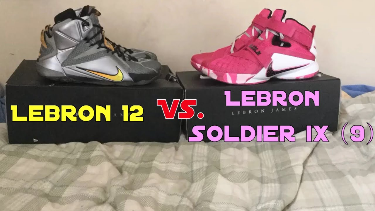 6a17d2d9273b ... usa lebron 12 vs lebron soldier ix 9 comparison and opinion 5bca9 ab5a5