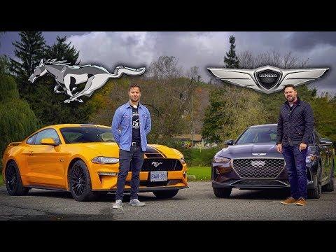 2019 Genesis G70 3.3t vs Ford Mustang GT // Grow Up or Bro Down?