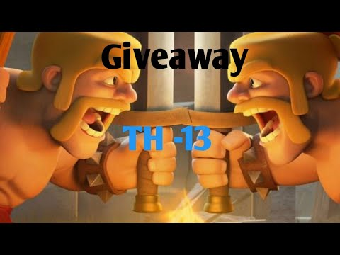 Giveaway Th 13 Max Id! Clash Of Clans