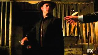Justified Season 3 Finale - Bobby Quarles Disarmed by Mr. Limehouse's Butcher Cleaver