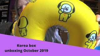 BTS Korea box unboxing October 2019