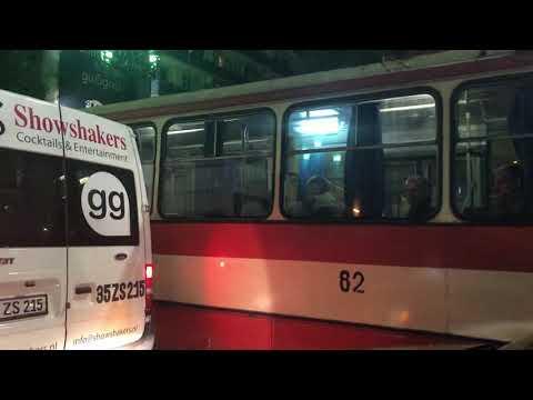 Троллейбус в Ереване. «Шкода 14тр» времен СССР