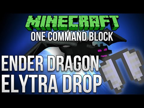 Minecraft 1.9: How To Make The Ender Dragon Drop Elytra Tutorial