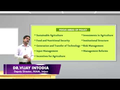 9 National Agricultural Policy